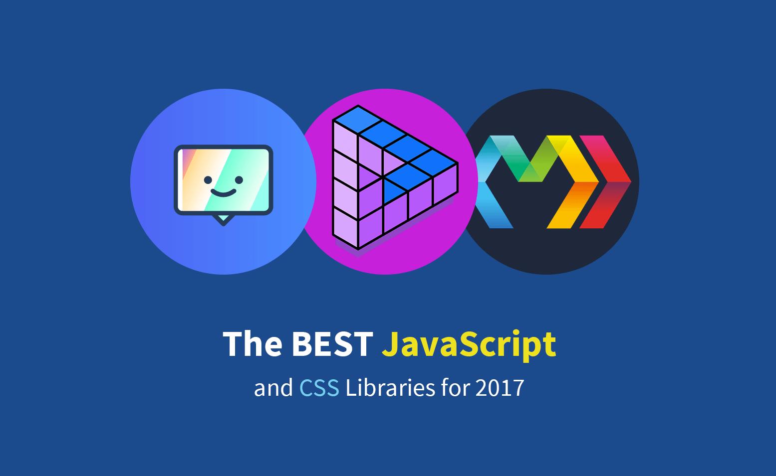 بهترین کتابخانه های Javascript و CSS در سال 2017