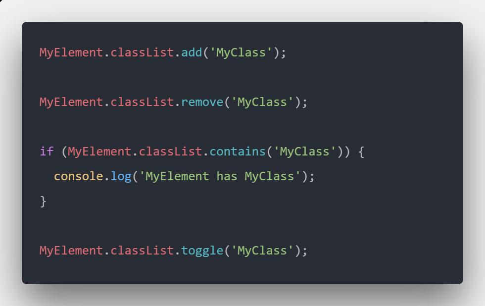 تغییر دادن کلاس المنت ها با استفاده از Javascript