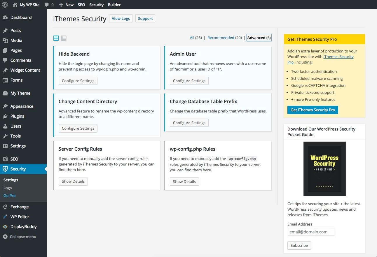 افزونههای امنیتی وردپرس