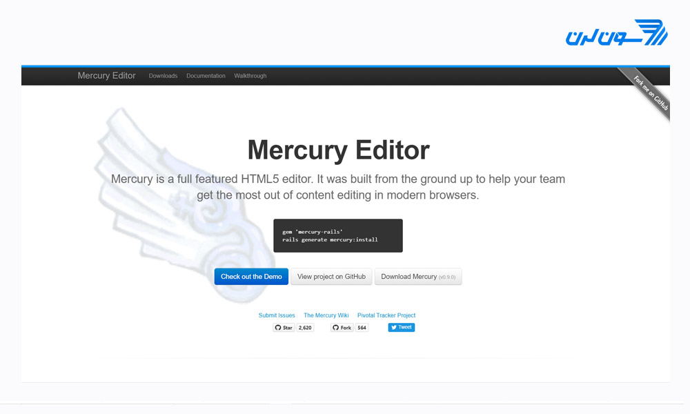 Mercury - ادیتور html - ادیتور متن WYSIWYG برای وب سایت