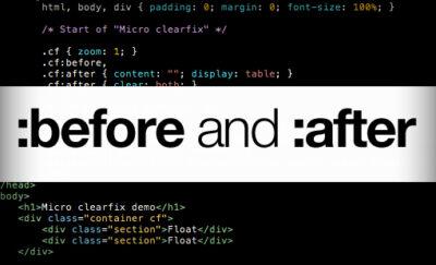 شبه عناصر before: و after: در CSS
