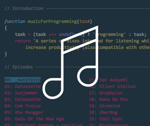 musicForProgramming : موسیقی های زیبا برای برنامه نویسان