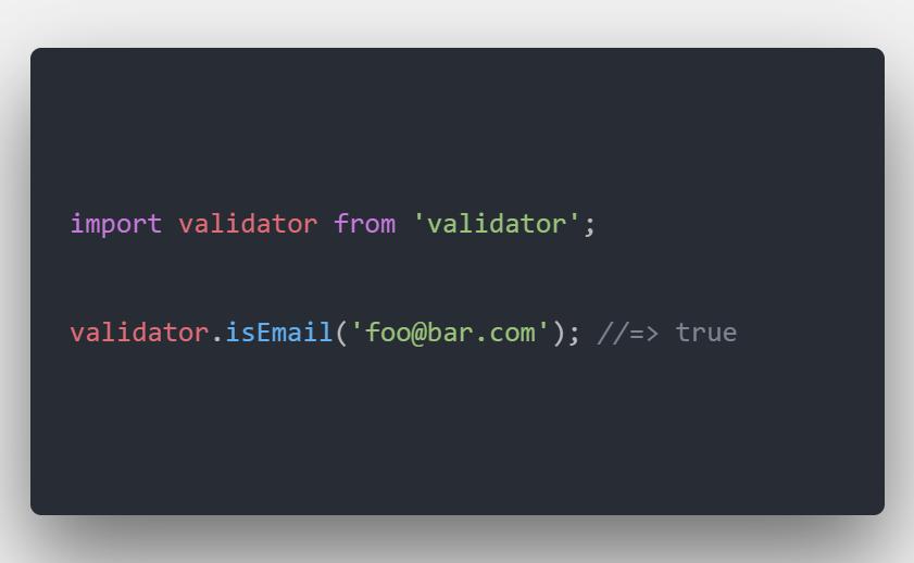 اعتبار سنجی رشته ها با Validator.js در Javascript