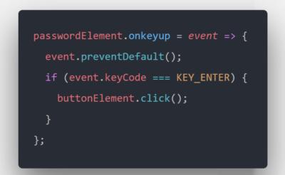 شبیه سازی کلیک بر روی دکمه با فشار دادن Enter