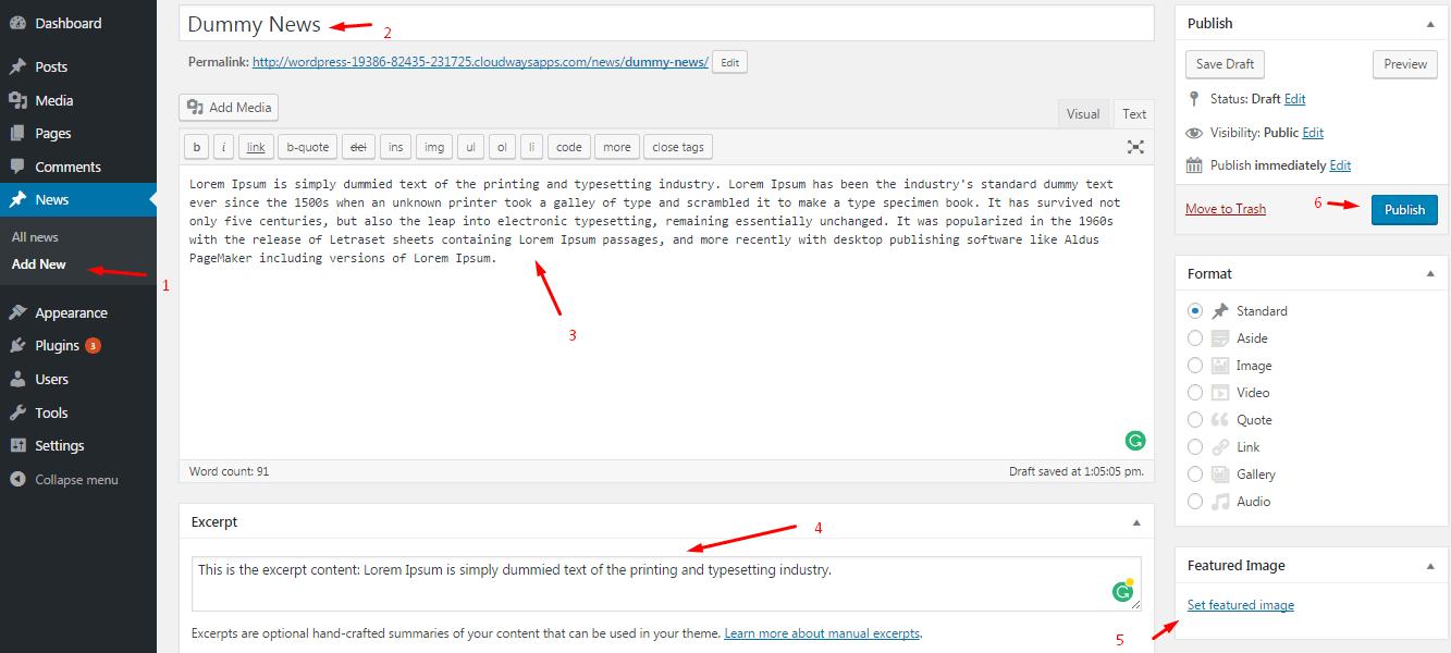 افزودن پست تایپ در وردپرس