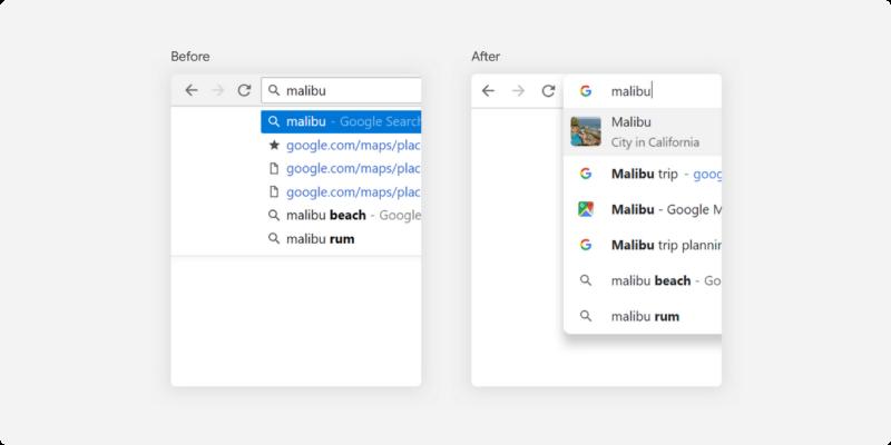 نوار جستجوی جدید Chrome