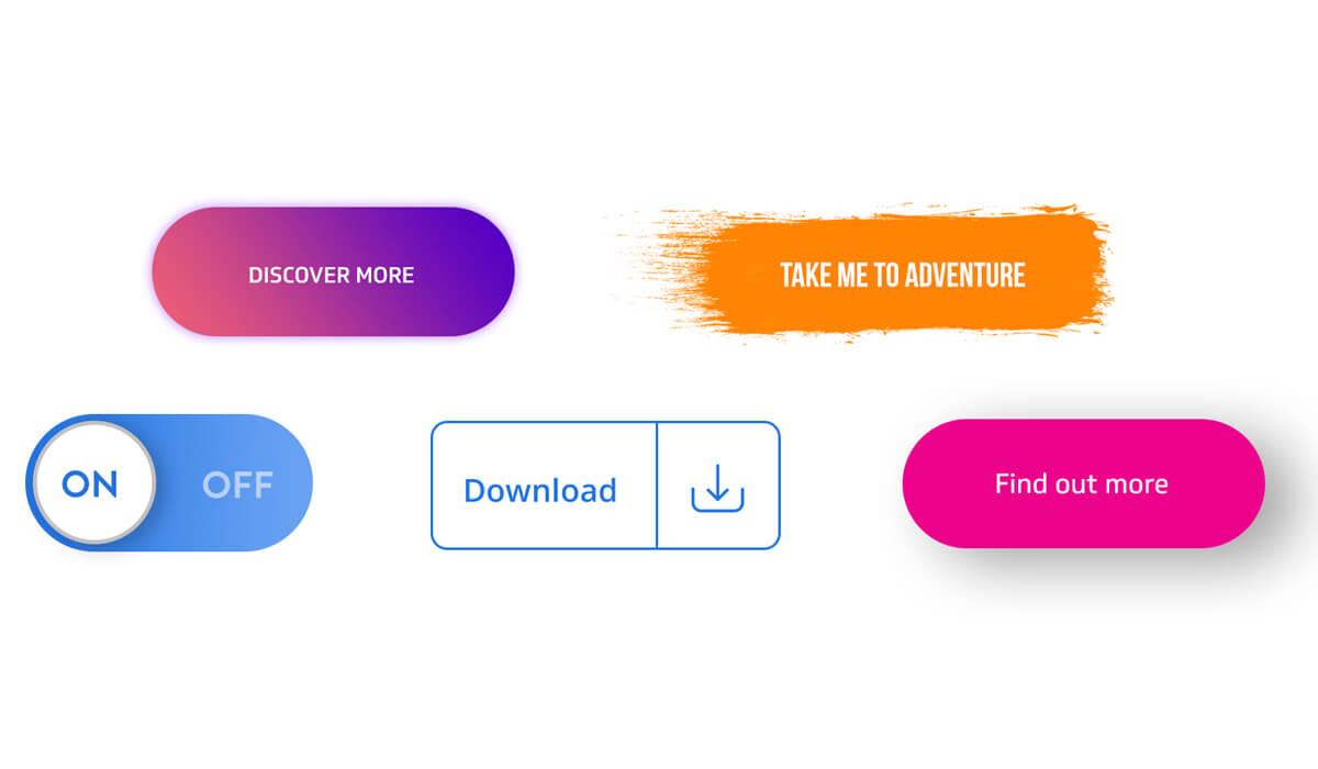 7 قانون اساسی برای طراحی دکمه ها در UX