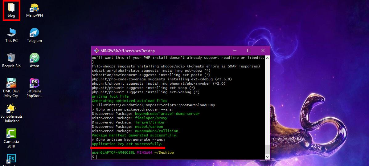 آموزش نصب لاراول 8 در ویندوز
