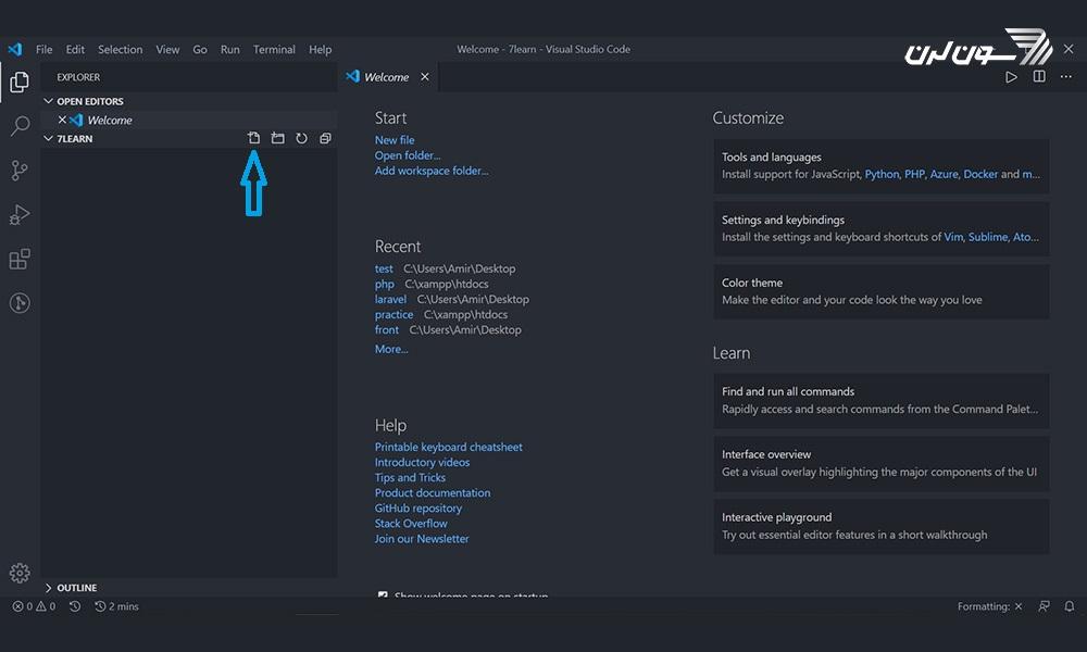 PHP - VS Code - New File Ocon