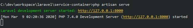 php artisan serve