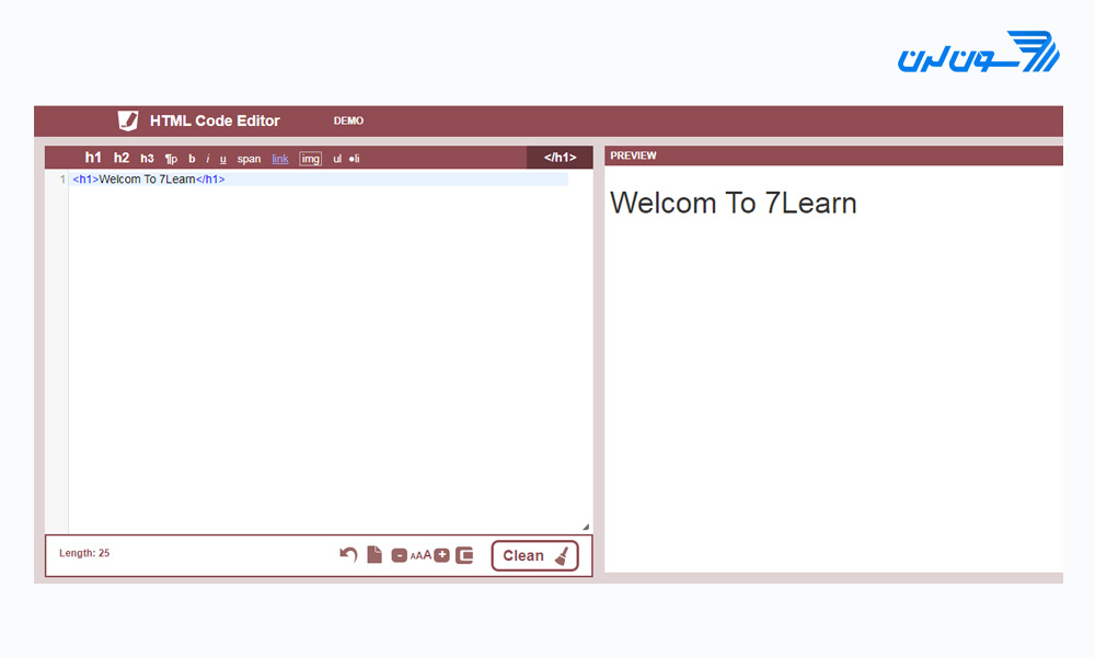 ساخت کد html آنلاین با HTMLCodeEditor