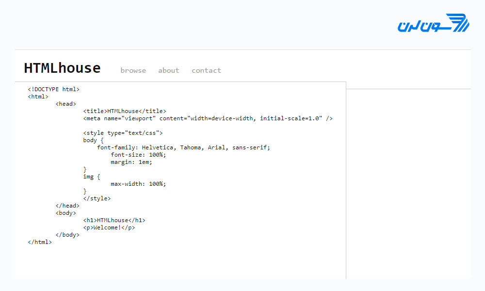 کد html آنلاین باHTMLhouse