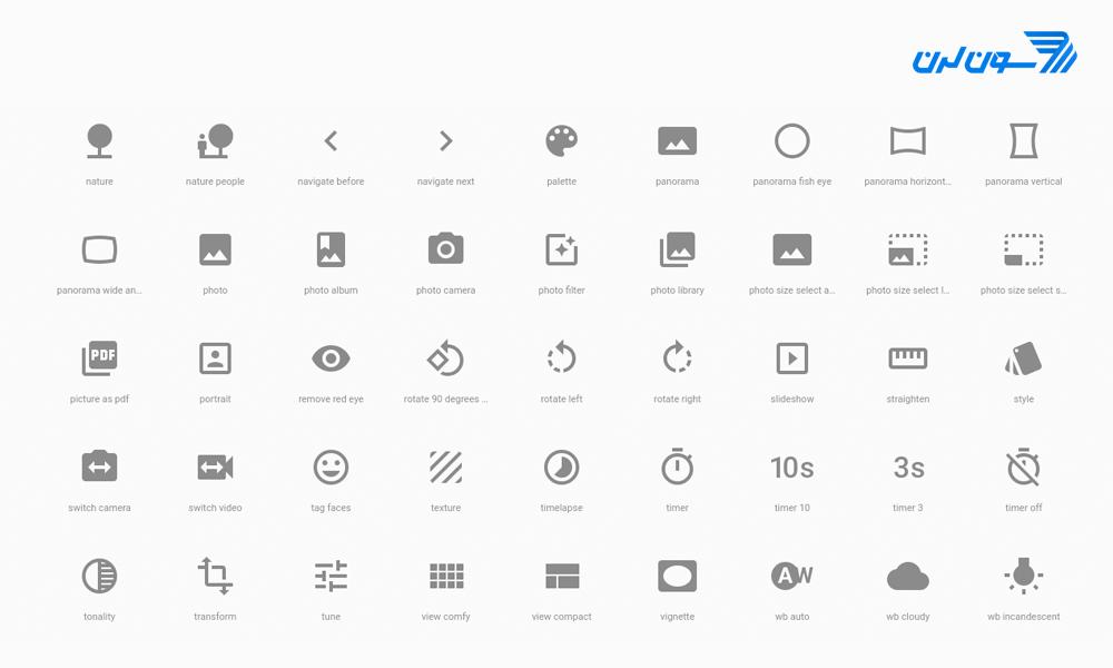 آیکون فونت Material Icons