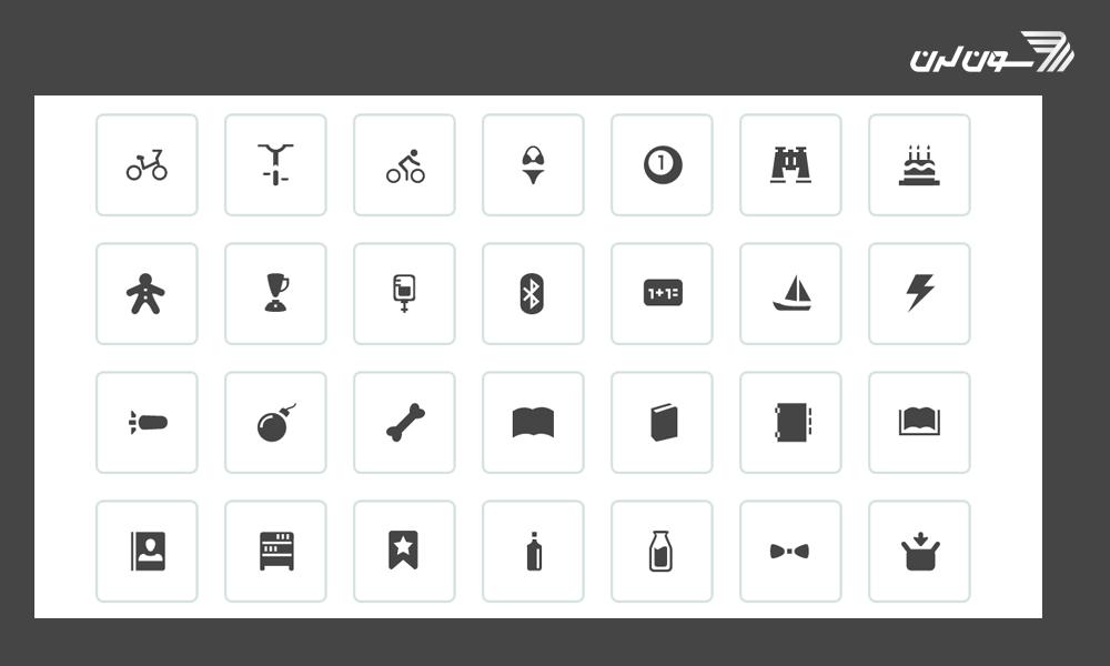 آیکونهای زیبا برای برنامه نویسی