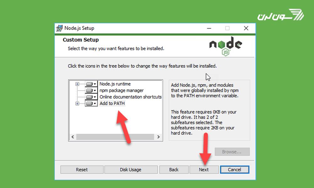 نصب و راه اندازی node js