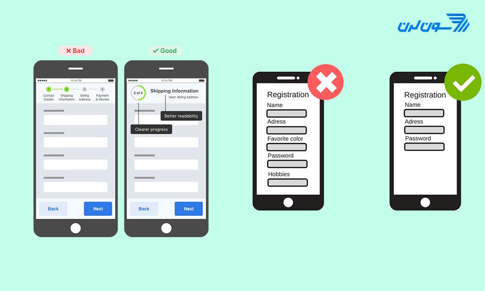 طراحی بد در رابط کاربری موبایل