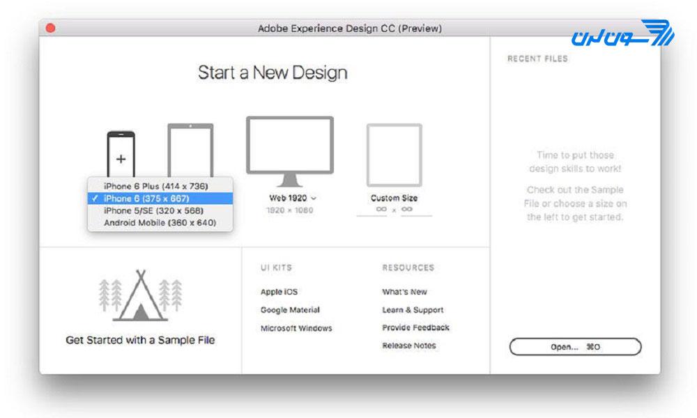 ایجاد یک پروژهی Prototype در Adobe XD