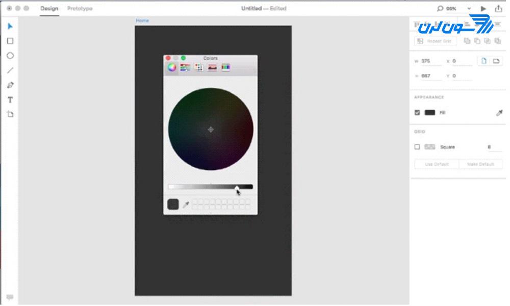 ایجاد پسزمینهی Prototype در Adobe XD