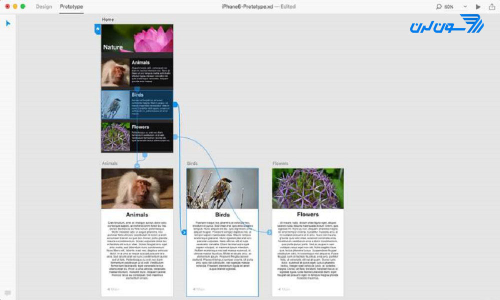 ایجاد تعامل در Adobe XD