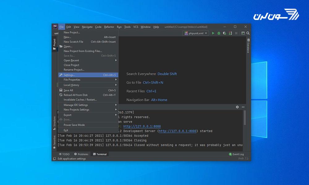 مرحله اول تغییر فونت کد در phpstorm