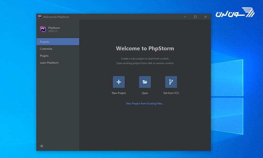 صفحه باز کردن یا ایجاد پروژه در Phpstorm