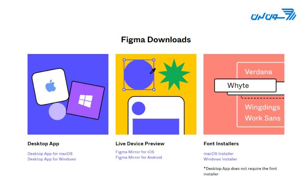 بخش دانلود سایت فیگما