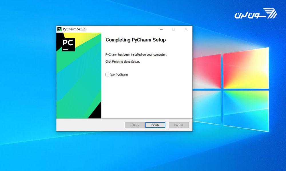 مرحله پنجم نصب PyCharm